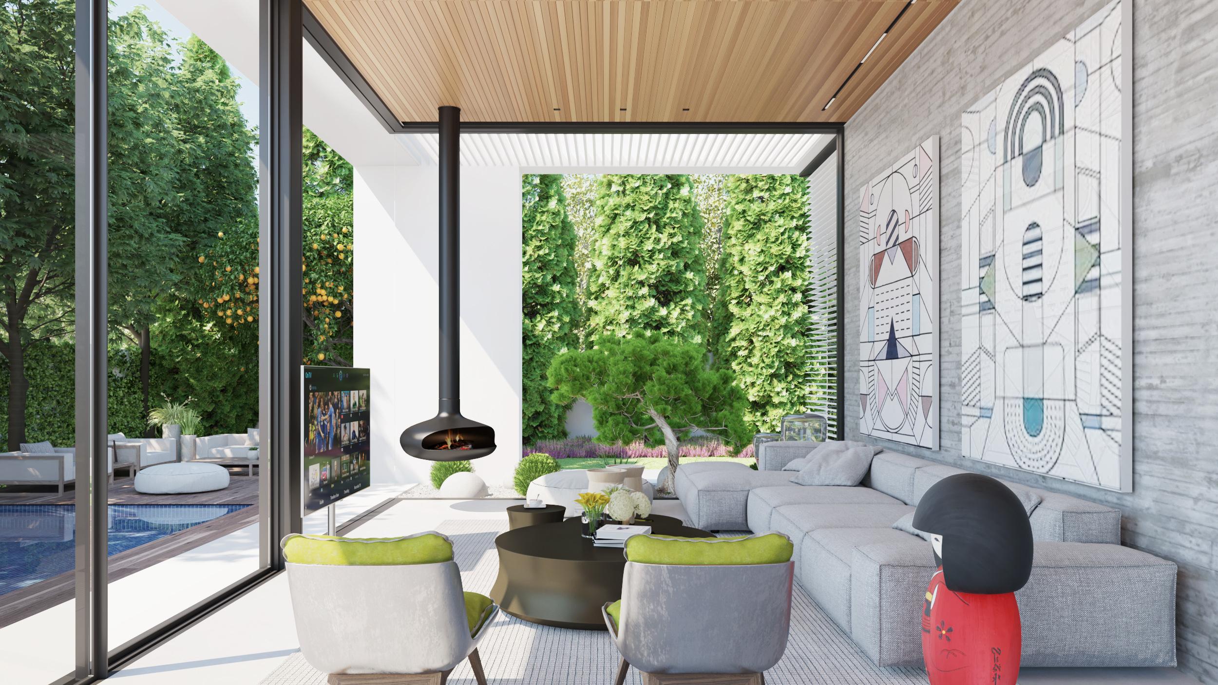 עיצוב חדר מגורים