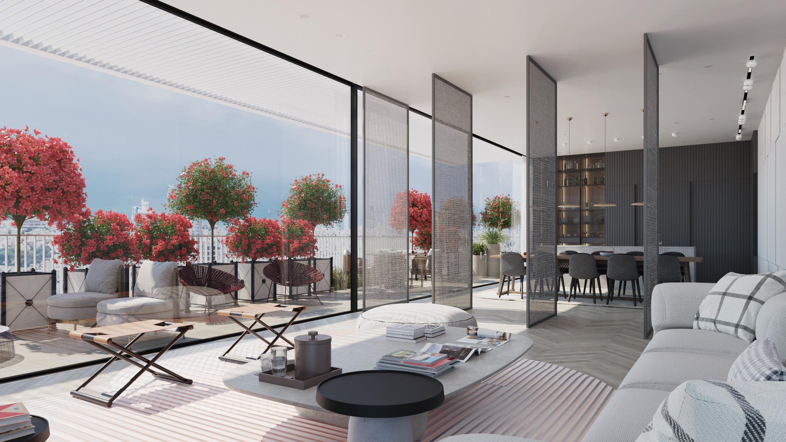דירה יוקרתית מעוצבת בתל אביב